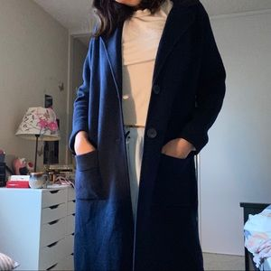 Jackets & Blazers - Navy long jacket